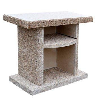 Стол садовый приставной к камину барбекю